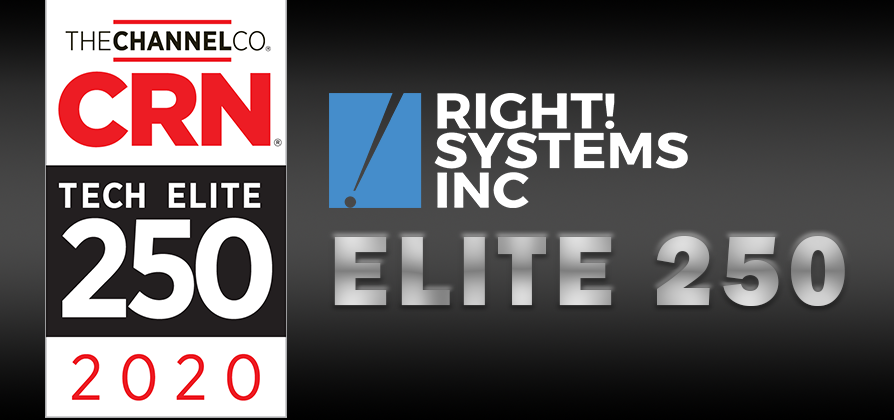 Right! Systems Named to the 2020 Tech Elite 250 by CRN®
